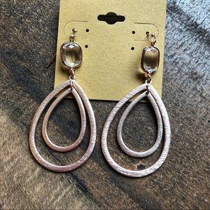 Teardrop Bezel Earrings